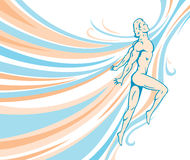 Flowing Male Dancer. Stock Image