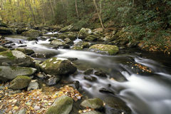 A flowing mountain stream in Smoky Mountain National Park Stock Images