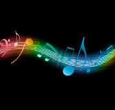 Flowing Music Notes Stock Photo