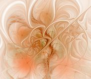 Flowing Orange Abstract Royalty Free Stock Photo