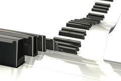 Flowing Piano Keypad Royalty Free Stock Photography