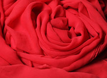 Flowing red fabric Stock Photo
