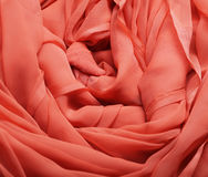 Flowing red fabric Royalty Free Stock Image