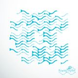 Flowing rhythm, abstract wave lines vector background for use in Royalty Free Stock Photos