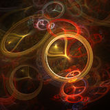 Flowing Rings Abstract Royalty Free Stock Photo