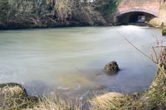 Flowing river Cherwell Stock Photography