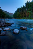 Flowing river early in the morning, Altai Krai Stock Images