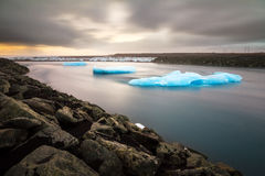 Flowing river ice Royalty Free Stock Photography