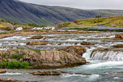 Flowing river in Iceland Stock Image