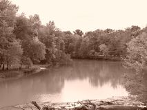 Flowing river in Missouri Stock Photography