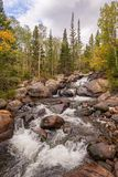 Flowing River in Rocky Mountain National Park. A beautiful flowing river found in Rocky Mountain National Park in Colorado Royalty Free Stock Images