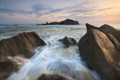 Flowing River and Sea Stream Stock Image