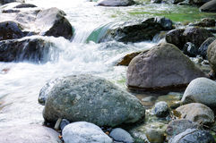 Flowing river. Flowing spring river in the mountains Stock Photo