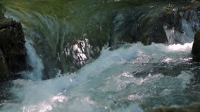 Flowing River Stream. Crimea. Sound stock footage