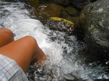 Flowing River Therapy royalty free stock image