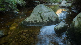 Flowing river time lapse stock footage