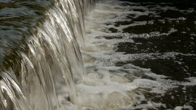 Flowing river water close-up. stock video
