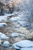 Flowing river at winter Stock Image