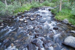 Flowing Rock Creek Stock Photo