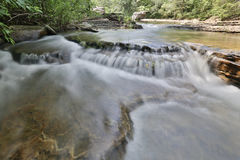 Flowing rocky creek clear clean water. Arkansas royalty free stock images