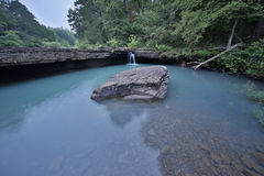 Flowing rocky creek clear clean water. Arkansas royalty free stock photo