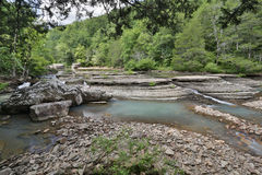 Flowing rocky creek clear clean water Royalty Free Stock Images