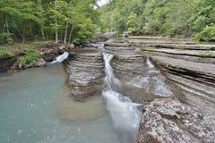 Flowing rocky creek clear clean water. Arkansas Stock Image