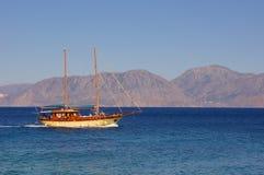 Flowing Sail. Sail Nikolaos Crete Greece Royalty Free Stock Photo