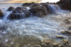 Flowing seawater Royalty Free Stock Image