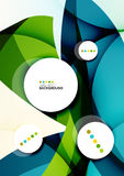 Flowing shapes fresh business template Royalty Free Stock Photo