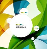 Flowing shapes fresh business template Royalty Free Stock Photography