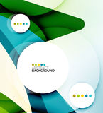 Flowing shapes fresh business template Stock Photography
