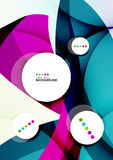 Flowing shapes fresh business template Stock Image