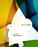 Flowing shapes fresh business template Royalty Free Stock Images