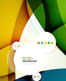 Flowing shapes fresh business template Stock Photos