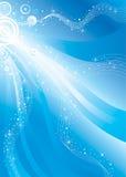 flowing shiny stars Στοκ Εικόνα
