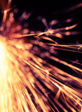 Flowing Sparks, abstract background Stock Images