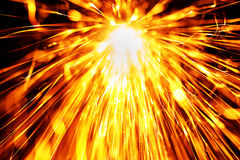 Flowing Sparks, abstract background Stock Photos