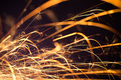 Flowing Sparks, abstract background Royalty Free Stock Image