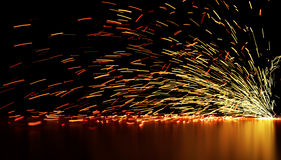 Flowing Sparks Stock Image