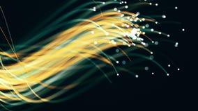 Flowing streaks of light, fiery streaks. Background animation of flowing streaks of light, abstract animation stock footage