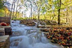 Flowing stream in Plitvice lakes national park Stock Photo