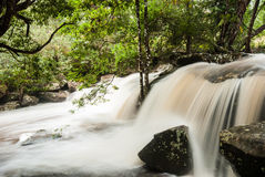Flowing stream at waterfall like a milk, Phukradueng, Thailand. Flowing stream at waterfall, Phukradueng, Thailand stock photo