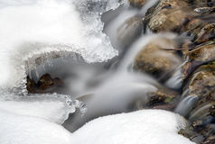 Flowing stream in winter Stock Image