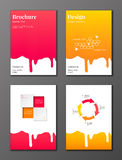 Flowing syrup brochures set Royalty Free Stock Images