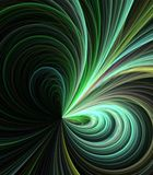 Flowing Threads Abstract. Artistic Abstract Background -  Flowing, arching green fiber textures against black backdrop Stock Image