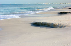 Flowing tide at the gulf of mexico Royalty Free Stock Photos