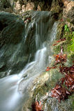 Flowing water. A long exposed view of a small river taken in south Turkey Royalty Free Stock Photos