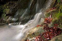 Flowing water. A long exposed view of a small river taken in south Turkey Stock Photos