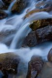 Flowing Water. Water flows from a mountain in early winter stock image